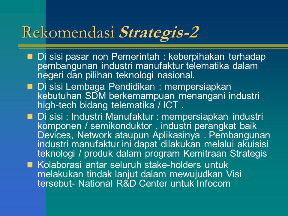 Rekomendasi Strategis-2