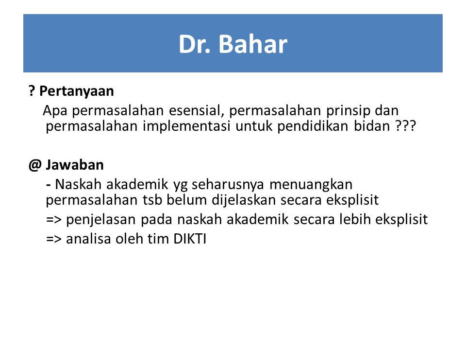Dr. Bahar