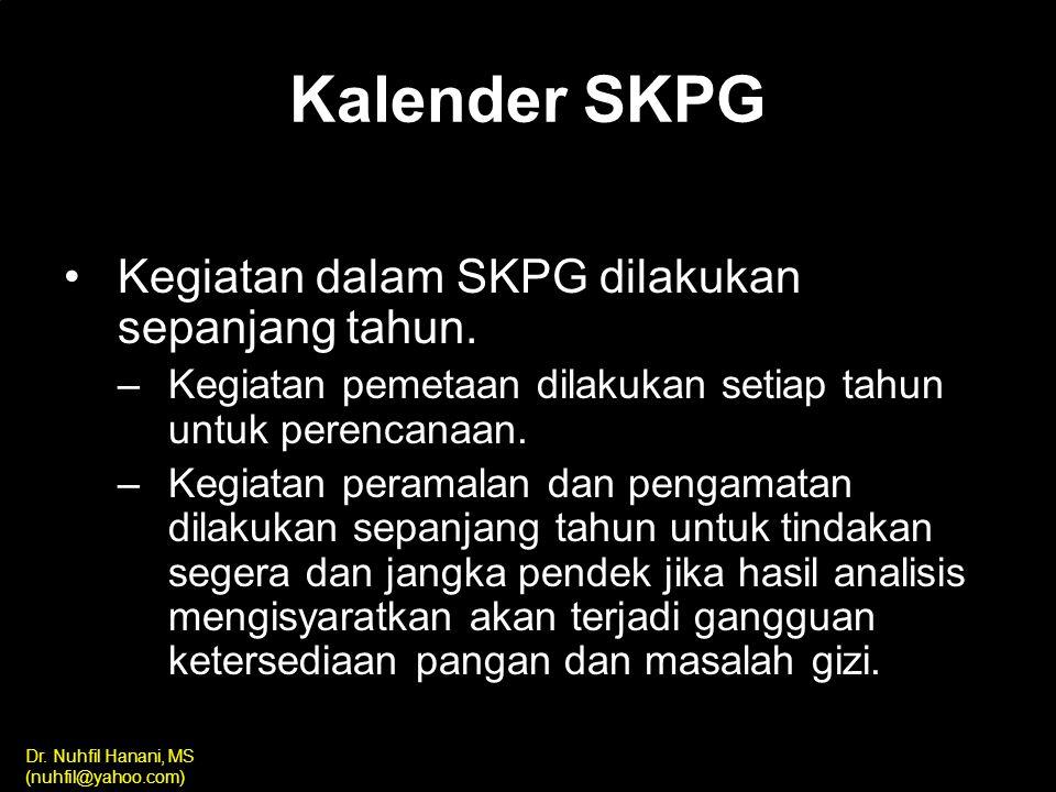 Kalender SKPG Kegiatan dalam SKPG dilakukan sepanjang tahun.