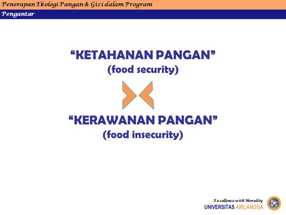 KETAHANAN PANGAN KERAWANAN PANGAN (food security)