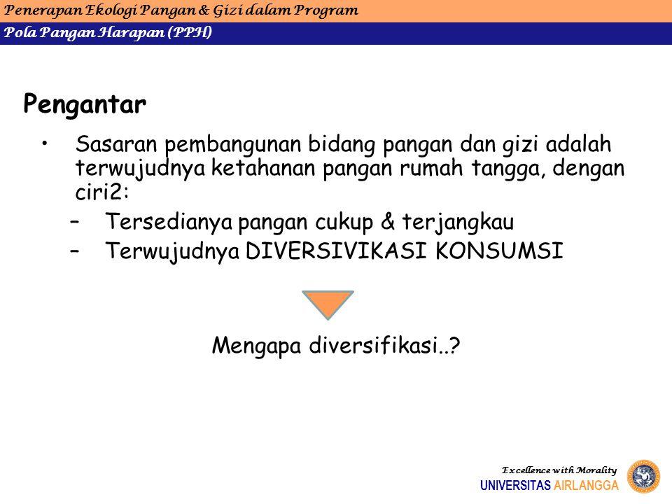 Mengapa diversifikasi..