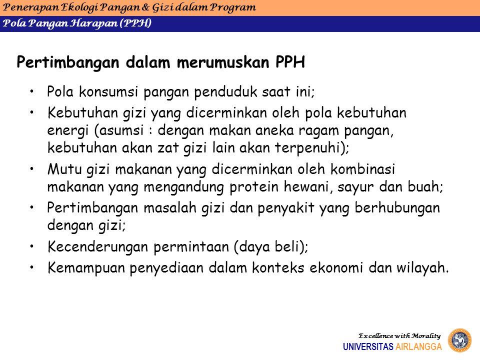 Pertimbangan dalam merumuskan PPH
