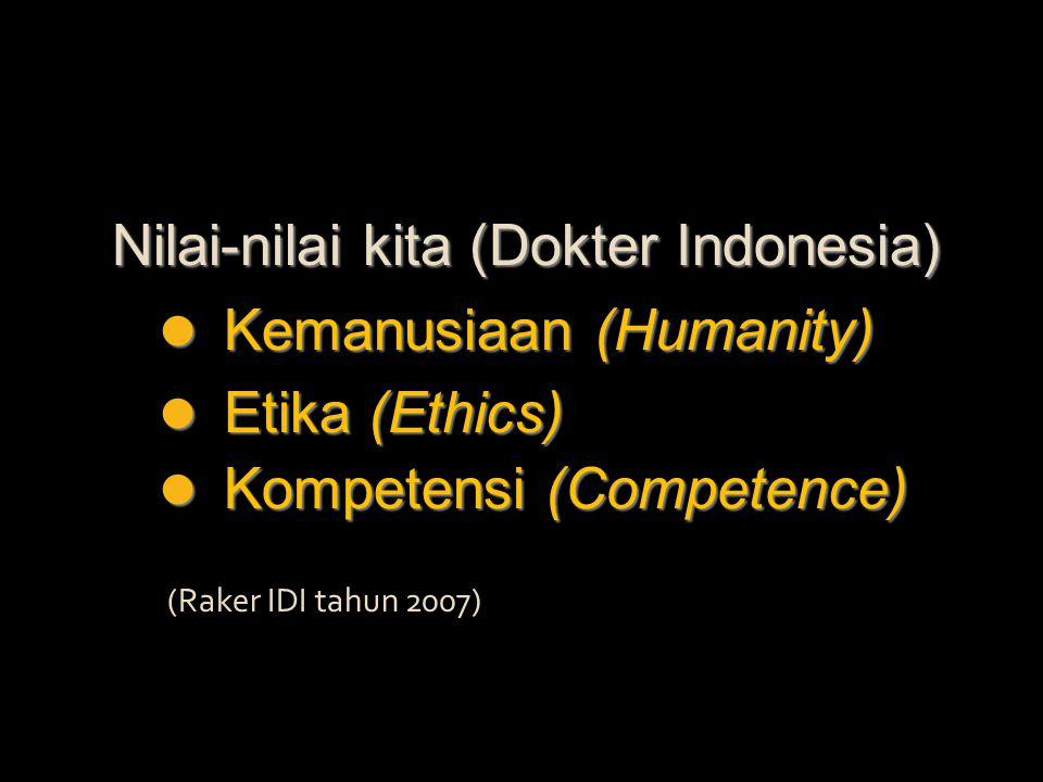 Nilai-nilai kita (Dokter Indonesia)