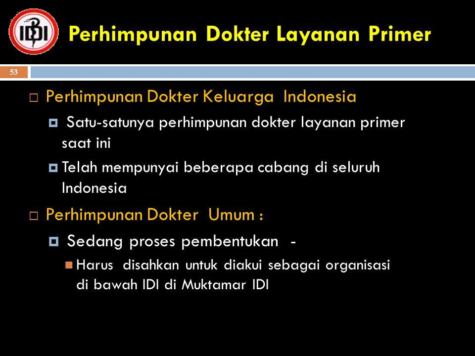 Perhimpunan Dokter Layanan Primer