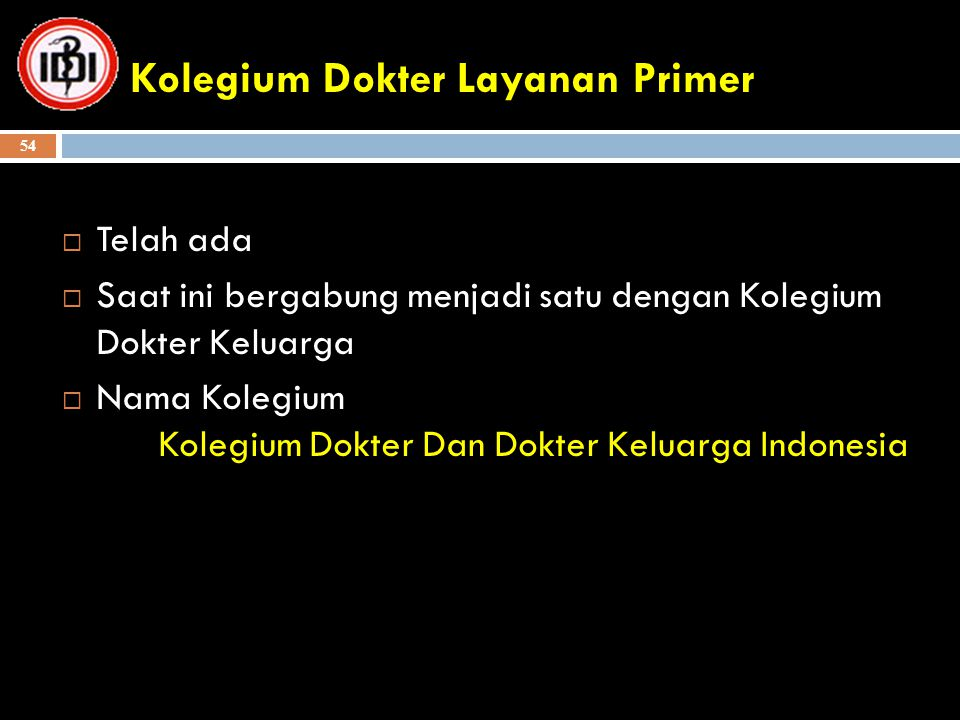 Kolegium Dokter Layanan Primer