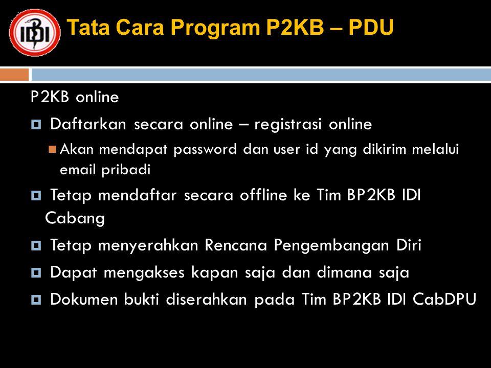 Tata Cara Program P2KB – PDU