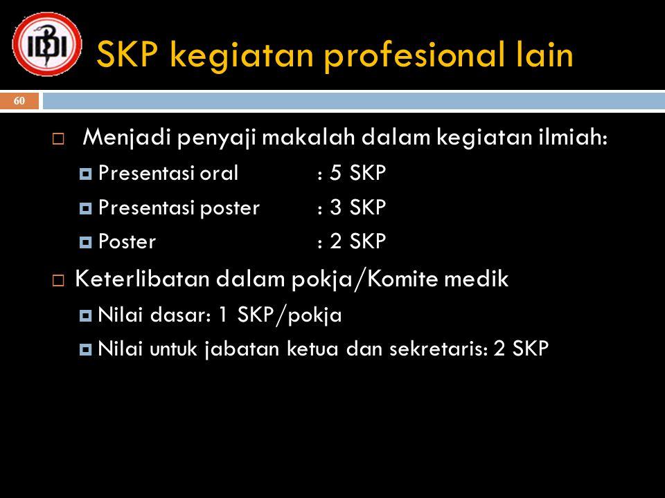 SKP kegiatan profesional lain