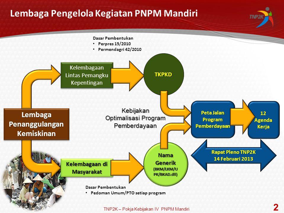 Lembaga Pengelola Kegiatan PNPM Mandiri