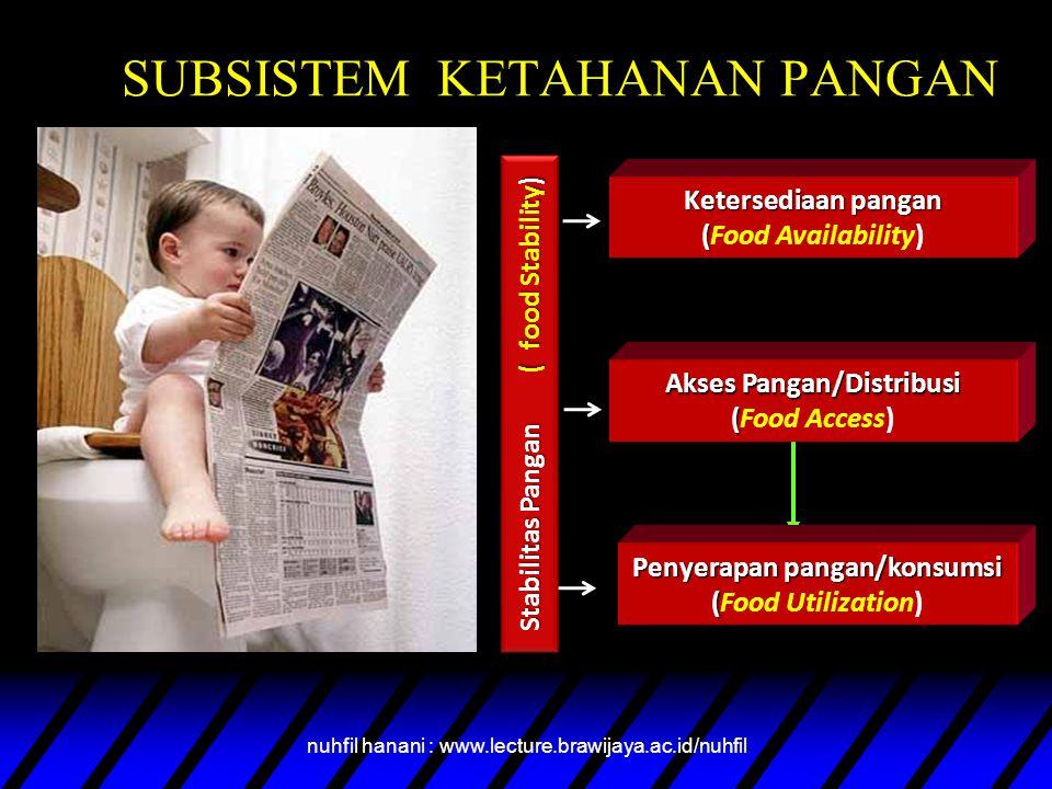 SUBSISTEM KETAHANAN PANGAN