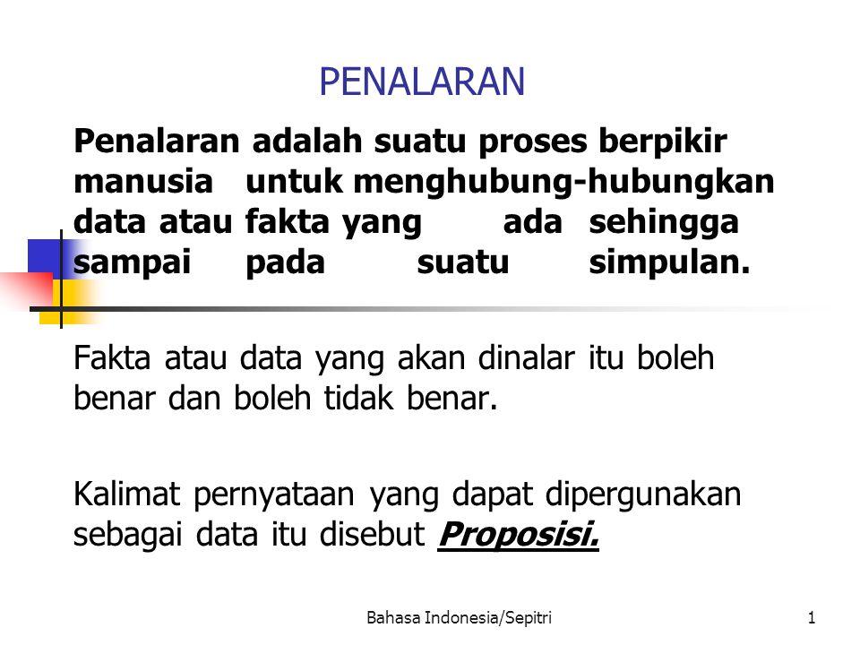 Bahasa Indonesia/Sepitri