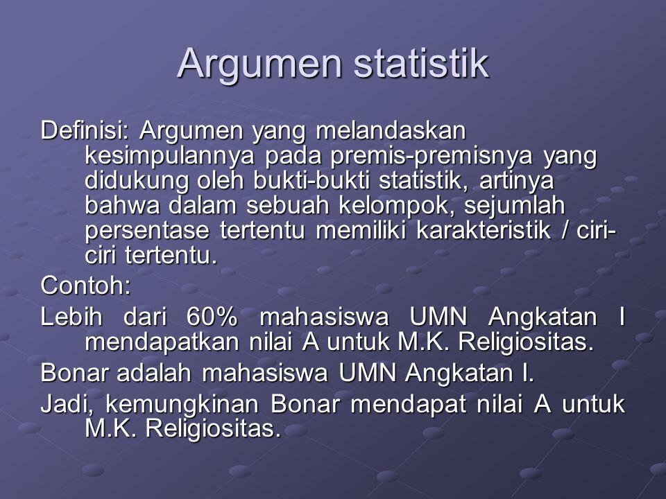 Argumen statistik