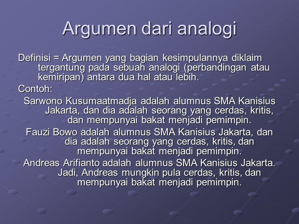Argumen dari analogi