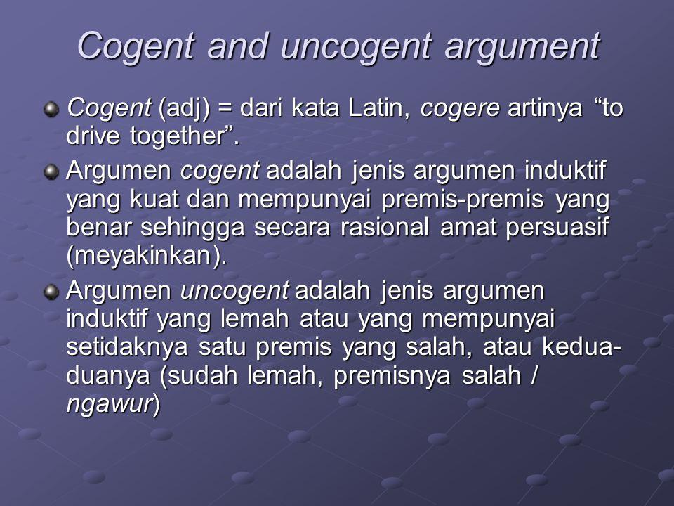 Cogent and uncogent argument