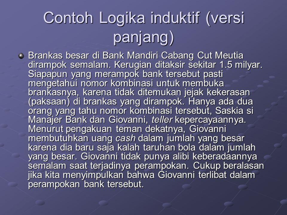 Contoh Logika induktif (versi panjang)