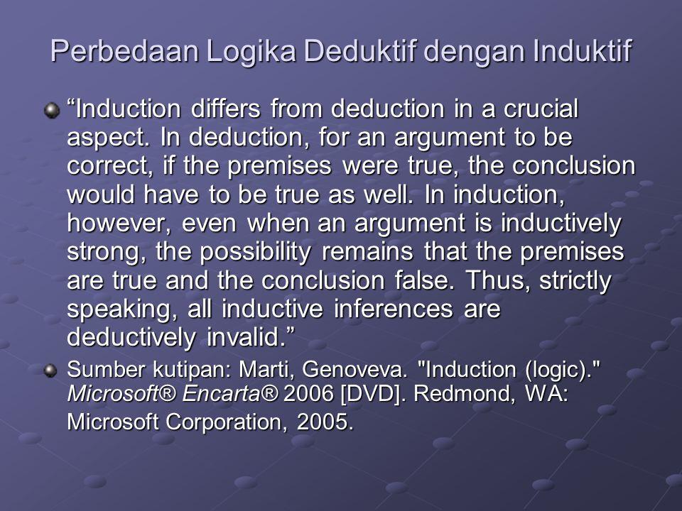 Perbedaan Logika Deduktif dengan Induktif