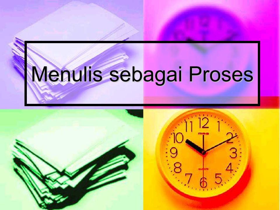 Menulis sebagai Proses