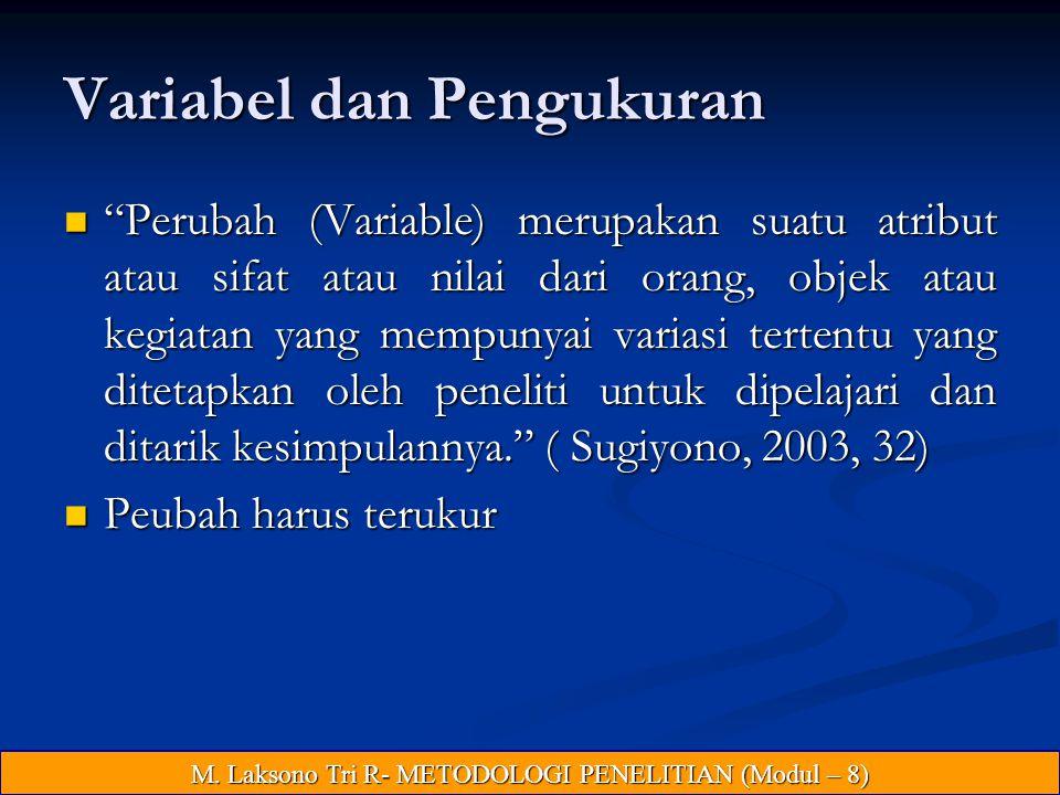 Variabel dan Pengukuran
