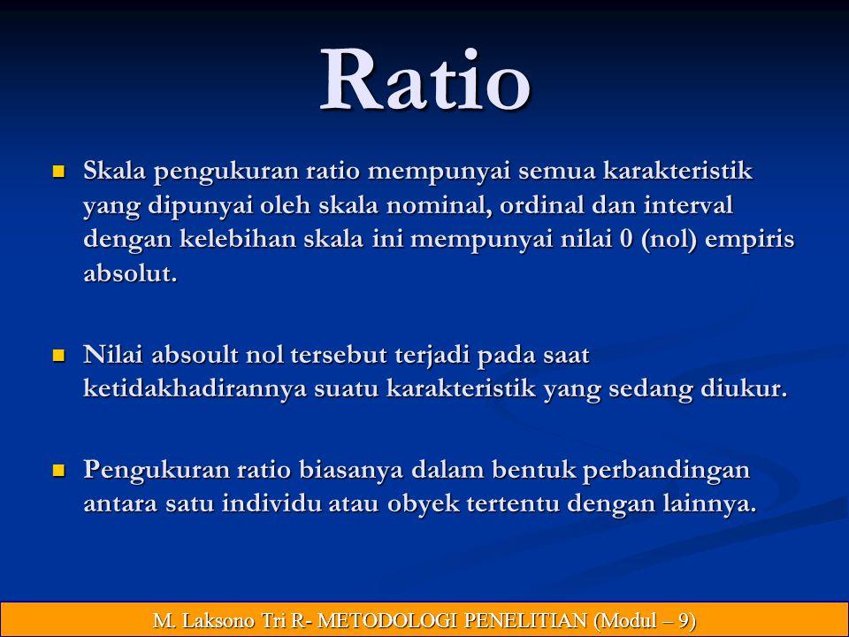 M. Laksono Tri R- METODOLOGI PENELITIAN (Modul – 9)