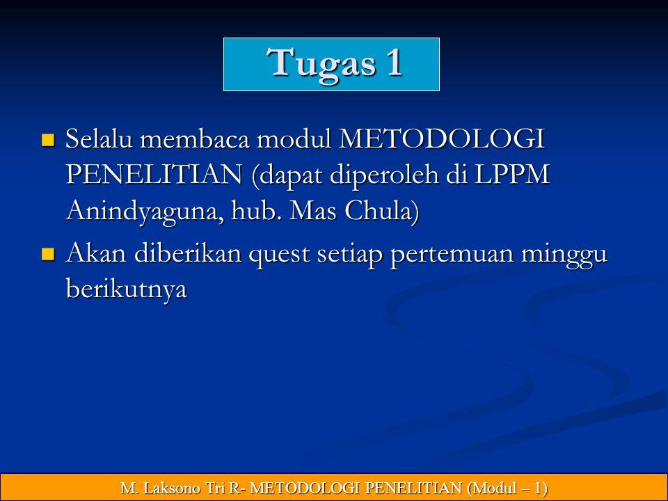 M. Laksono Tri R- METODOLOGI PENELITIAN (Modul – 1)