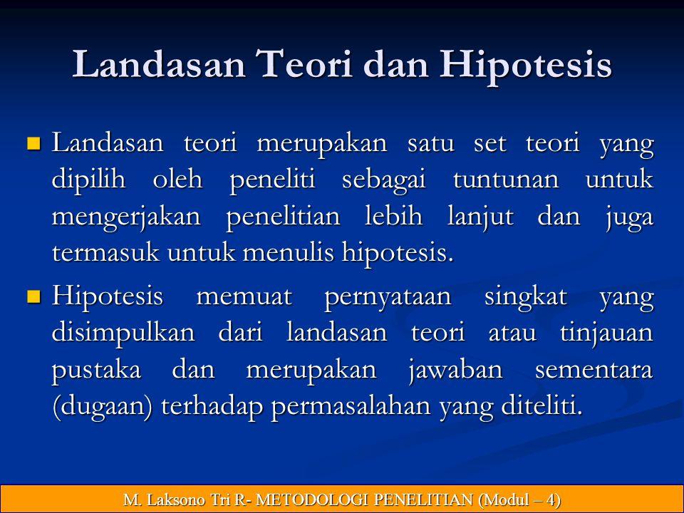 Landasan Teori dan Hipotesis