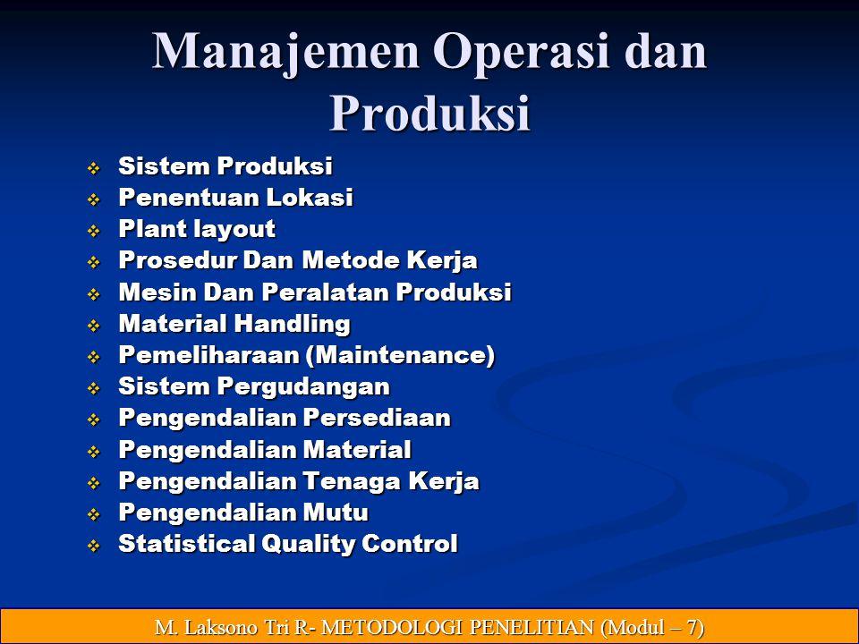 Manajemen Operasi dan Produksi