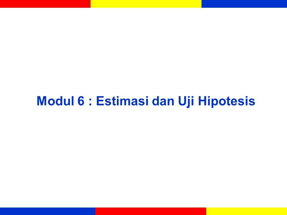 Modul 6 : Estimasi dan Uji Hipotesis