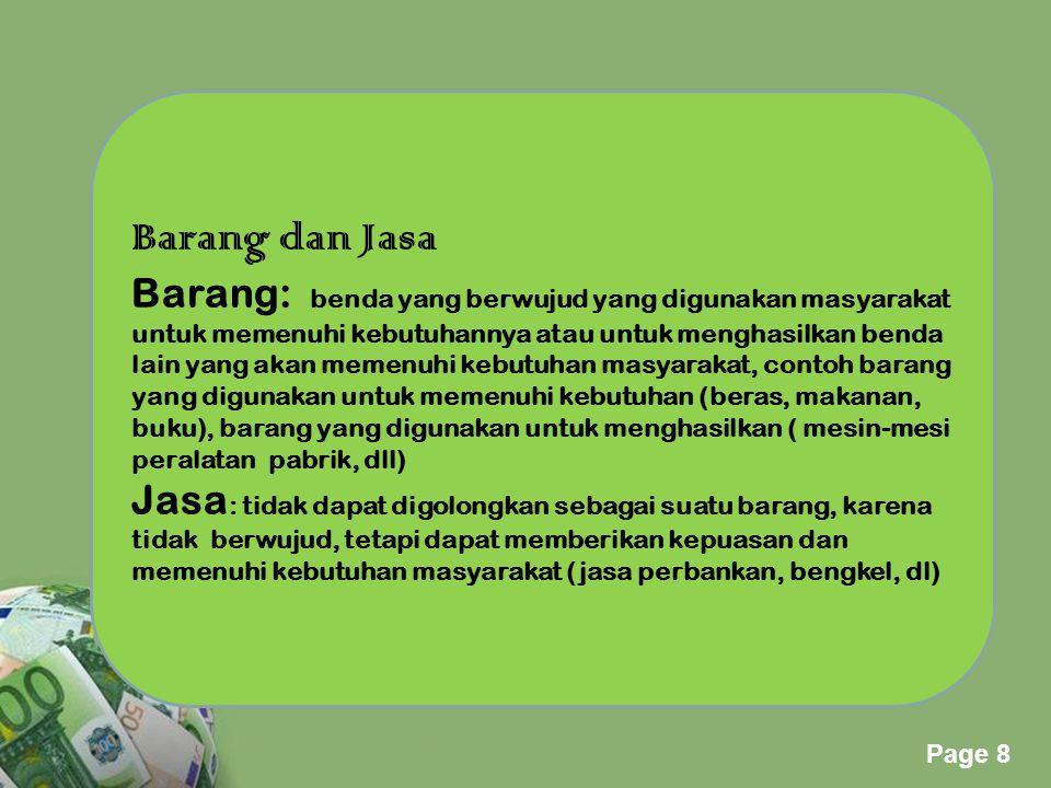 Barang dan Jasa