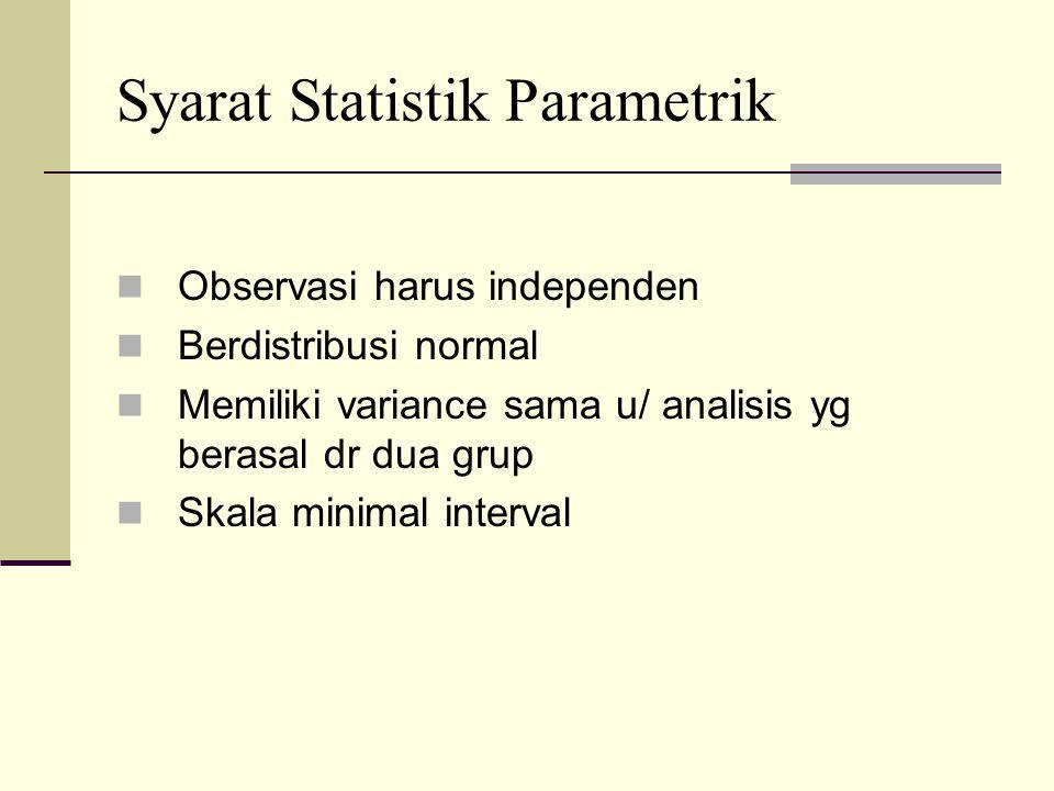 Syarat Statistik Parametrik