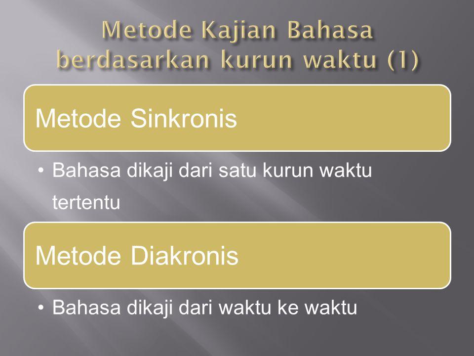 Metode Kajian Bahasa berdasarkan kurun waktu (1)