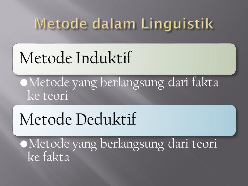 Metode dalam Linguistik