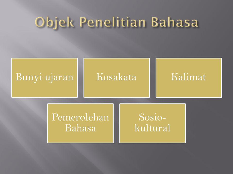 Objek Penelitian Bahasa