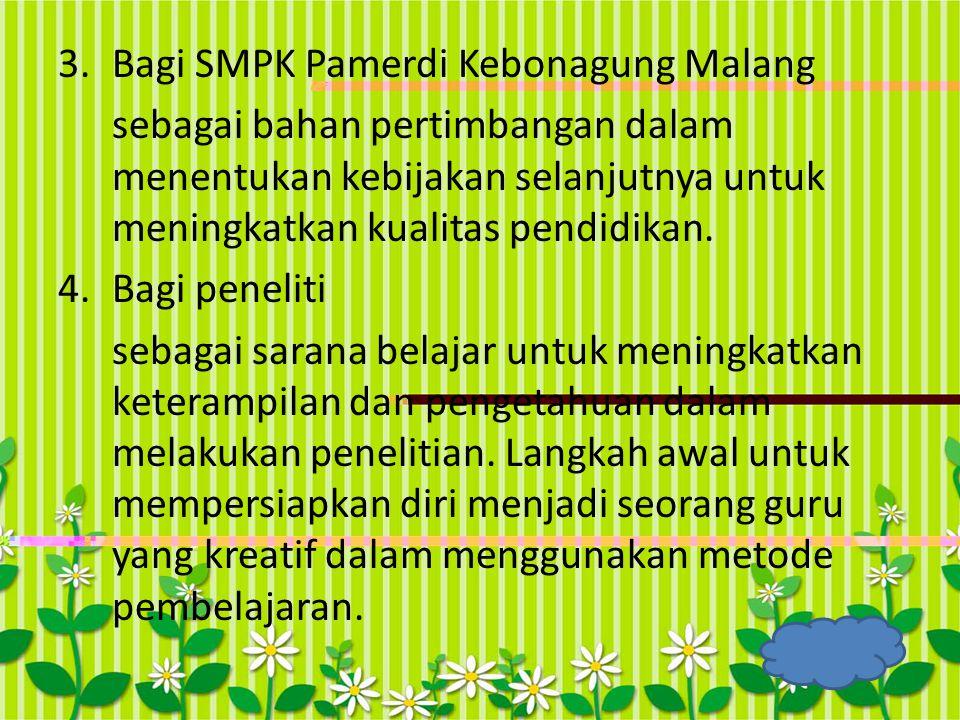 Bagi SMPK Pamerdi Kebonagung Malang