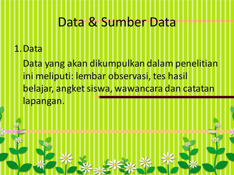 Data & Sumber Data 1. Data.