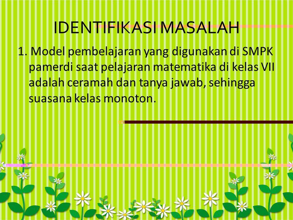 IDENTIFIKASI MASALAH