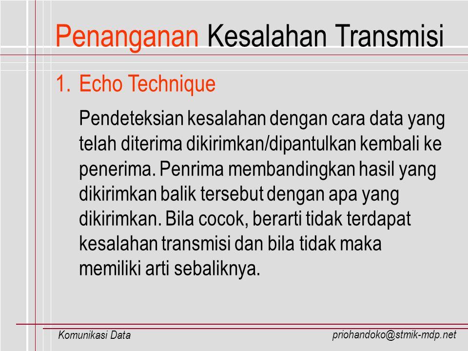 Penanganan Kesalahan Transmisi