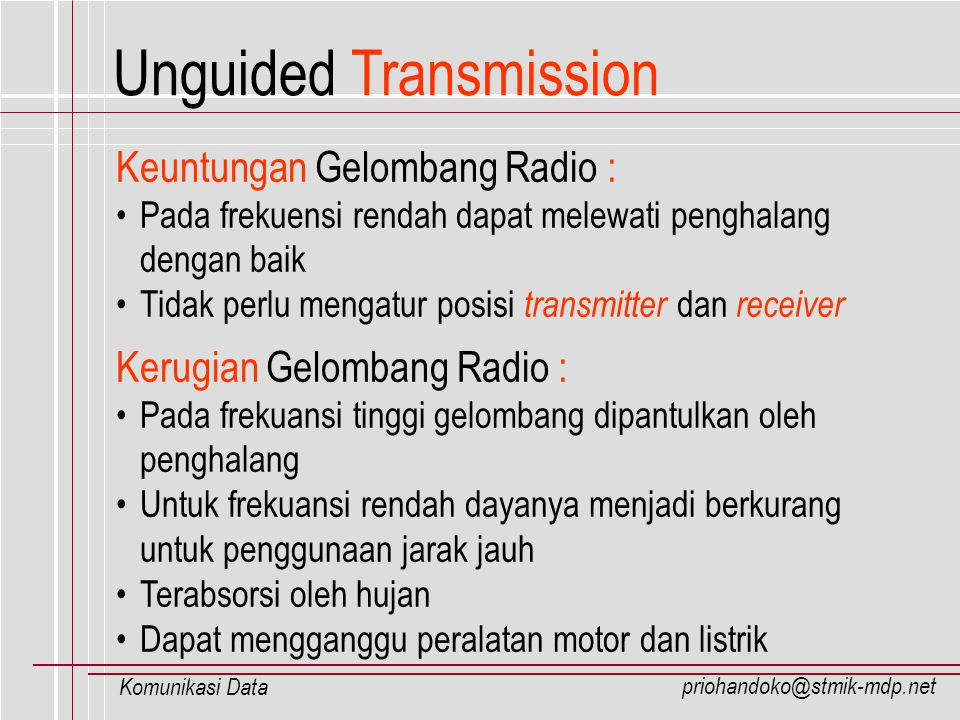 Unguided Transmission