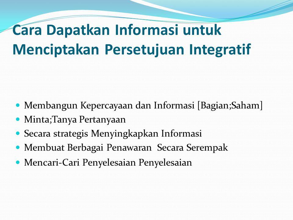 Cara Dapatkan Informasi untuk Menciptakan Persetujuan Integratif