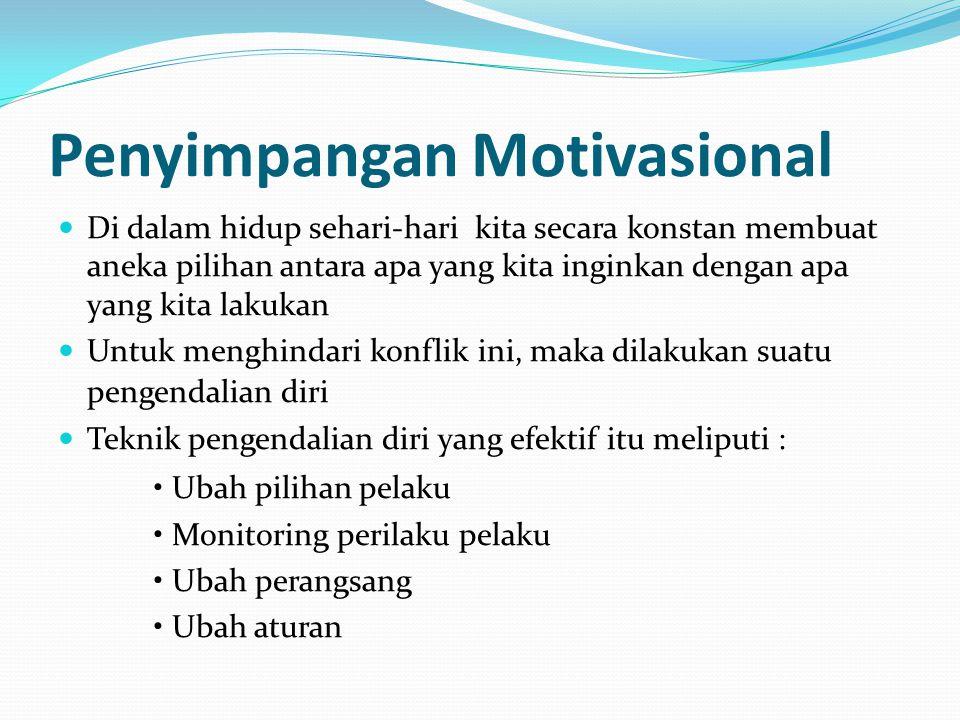 Penyimpangan Motivasional