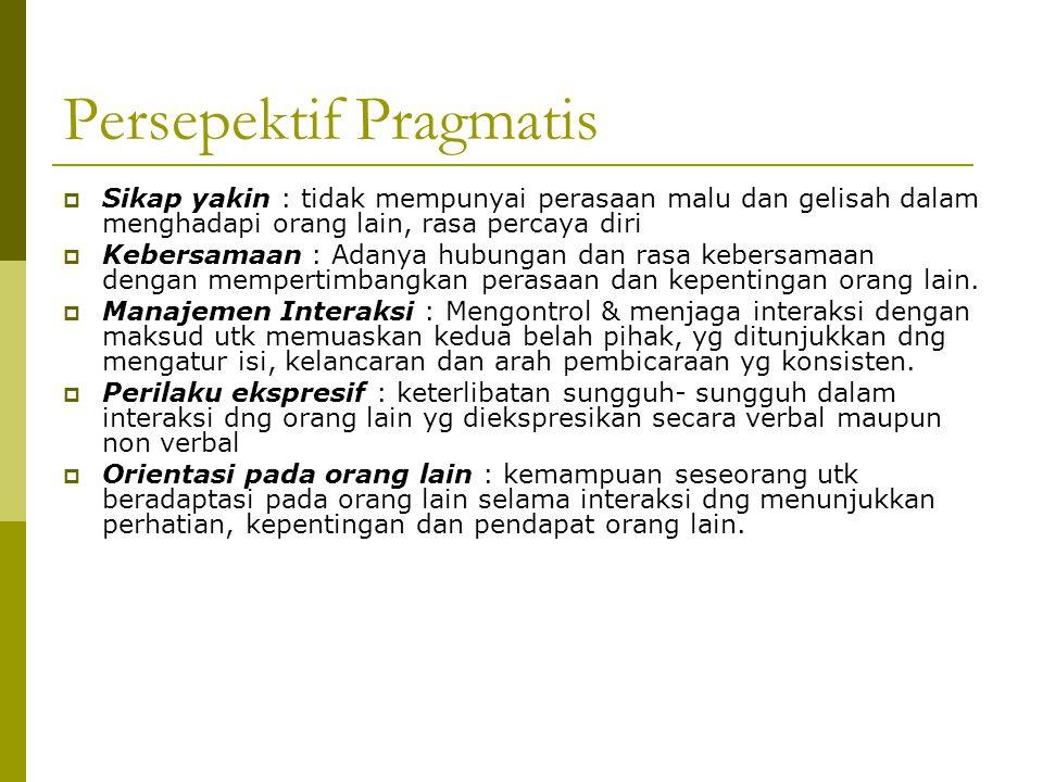 Persepektif Pragmatis