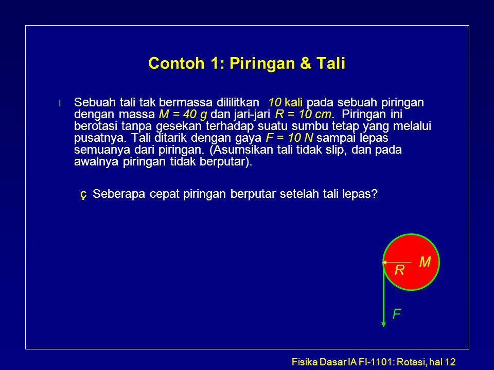 Contoh 1: Piringan & Tali