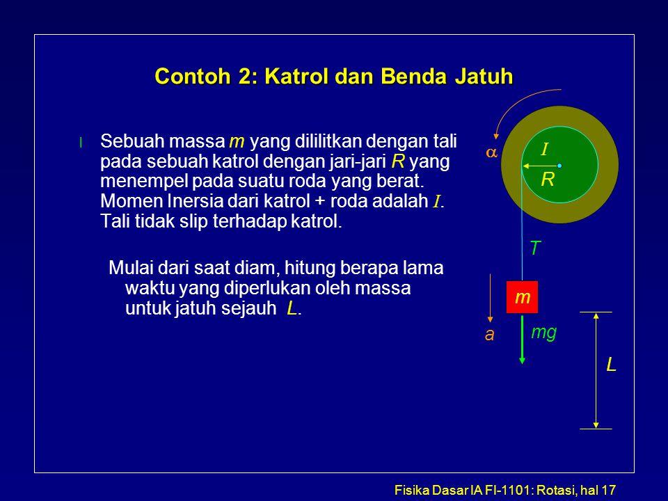 Contoh 2: Katrol dan Benda Jatuh