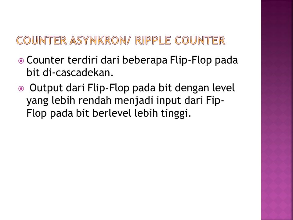 Counter Asynkron/ Ripple Counter