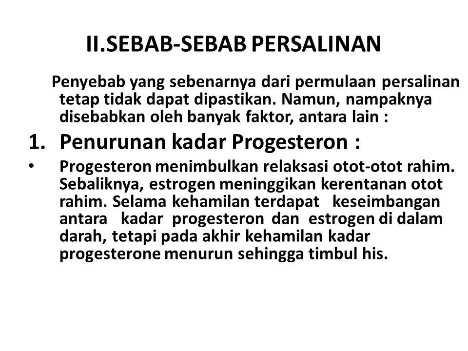 II.SEBAB-SEBAB PERSALINAN