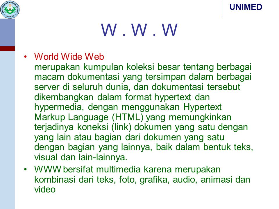 W . W . W
