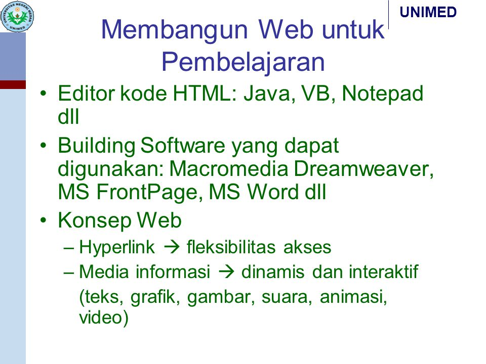 Membangun Web untuk Pembelajaran