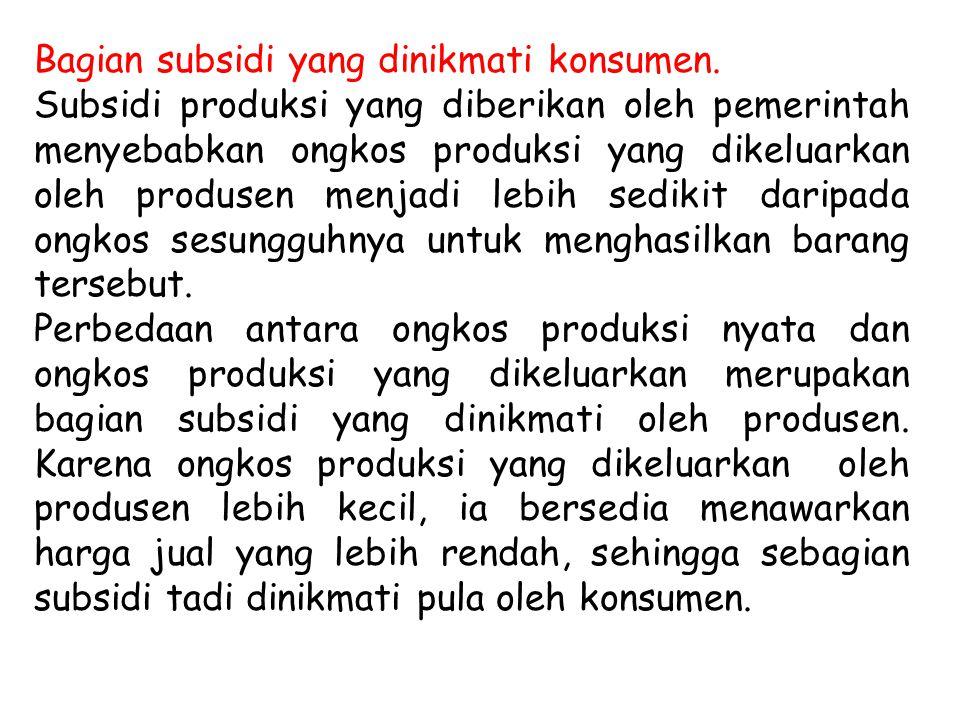 Bagian subsidi yang dinikmati konsumen.
