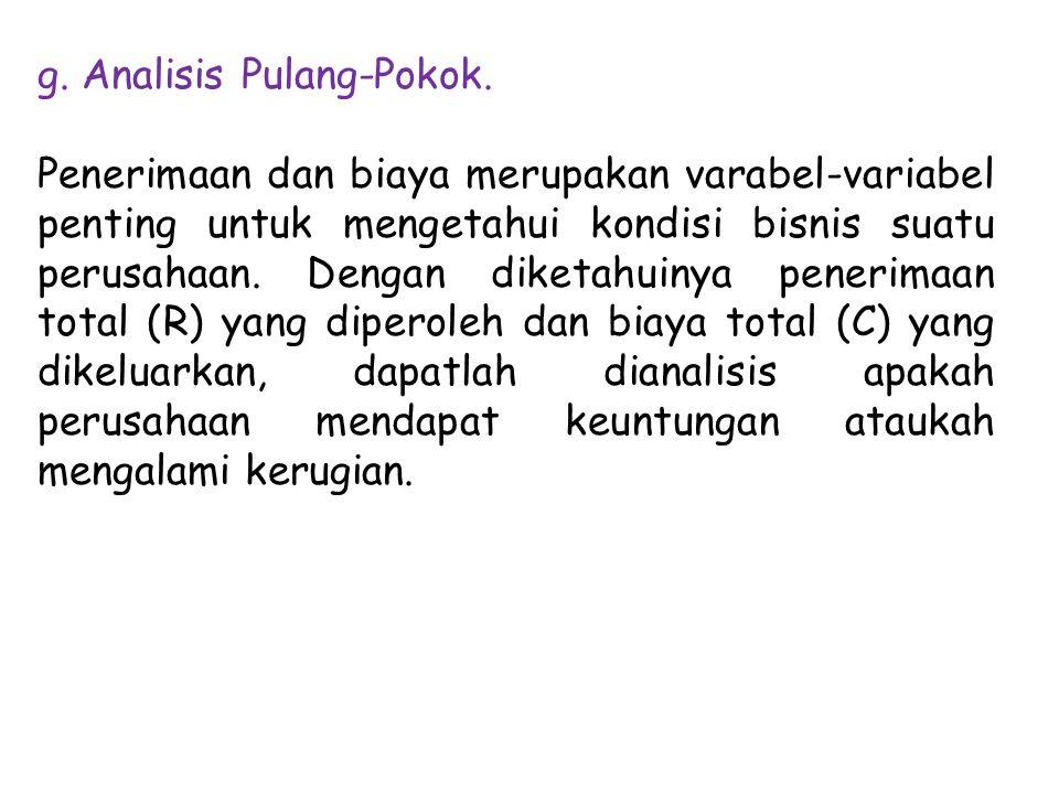 g. Analisis Pulang-Pokok.