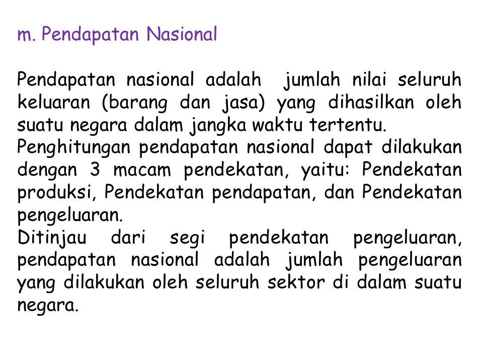 m. Pendapatan Nasional