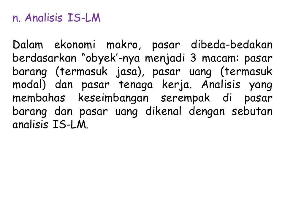n. Analisis IS-LM