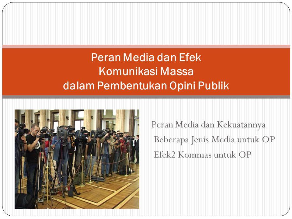 Peran Media dan Efek Komunikasi Massa dalam Pembentukan Opini Publik